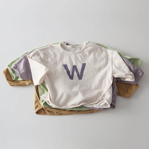 W 티 (4colors)  XS-XL